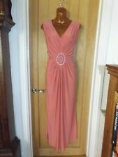 Vestido de verano Rosa Hermosa Elástica Maxi de noche Charlotte Gold Talla 16