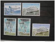 timbres Belgique : Parachutisme 1960 **