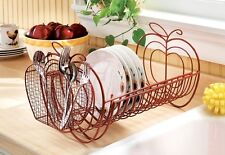 "Expandable Apple Design Dish Rack (Expands 14"" to 27"")"