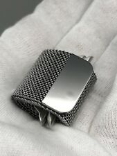 Authentic Original Apple Milanese Loop Watch Band Silver - Fits Size 42 and 44