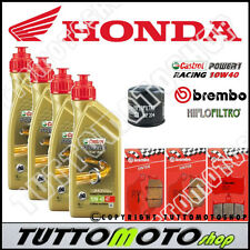 KIT TAGLIANDO HONDA HORNET 900 2006 OLIO CASTROL RACING FILTRO PASTIGLIE