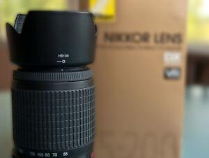 Replacement HB-34 HB34 Lens Hood for NIKON AF-S 55-200mm UK SELLER