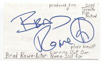 Brad Rowe Signed 3x5 Index Card Autograph Signature Actor