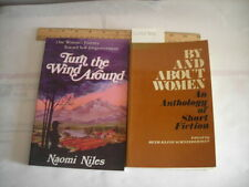 Naomi Niles / TURN THE WIND AROUND Signed / By and About Women Anthology 2 Books