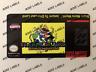 Super Mario World Return to Dinossaur Land Snes Cartridge Replacement Game Label