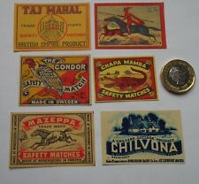 22 DIFFERENT  OLD VERY RARE   MATCH BOX LABELS