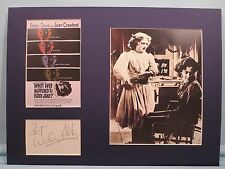 "Bette Davis in ""Whatever Happened to Baby Jane?"" & the autograph of Wesley Addy"
