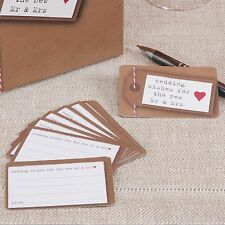 25 WEDDING WISH CARDS Vintage JUST MY TYPE Use with Post Box Rustic Wishes Brown