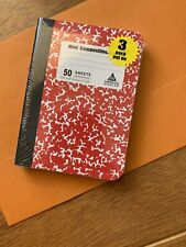 "💕Mini Composition Books ""3 In A Pack"" Red, Blue And Green 50 Ruled Sheets $1."