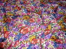 VISCOSE GALAXY TWILL- ALLOVER RUSTIC FLORAL PRINT- DRESS FABRIC -1.35 METRES