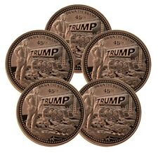 Five - Trump Drain The Swamp 1oz AVDP Proof Like Copper Rounds (t6c)