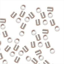 Sterling Silver Crimp Beads 2 X 2mm (20)