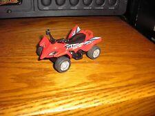 "1/43 ? 3 1/8"" ATV 4x4 Polaris Honda 4 wheeler Quad Red with Pull Back Action"