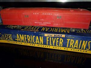 Vintage 1940 American Flyer #651 New Haven Railway Express Baggage Car, OB  n408