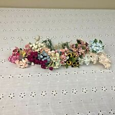Vintage Miniature Floral Millinery Flower Stems Cluster Bouquet Spray Lot Mixed