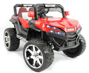Buggy x2 4x4, Eva Räder, Kinderauto Kinderfahrzeug Kinder Elektroauto rot