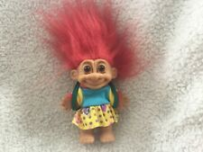 Russ YOUNG SCHOOL GIRL TROLL DOLL with BACK PACK