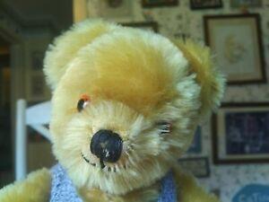 Antique Vintage 1960s mohair Alpha Farnell Teddy bear England UK 12in GUC+