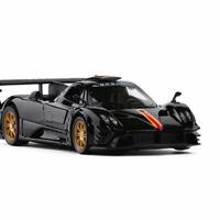 1:32 Pagani Zonda R Model Car Diecast Toy Vehicle Kids Gift Sound & Light Black