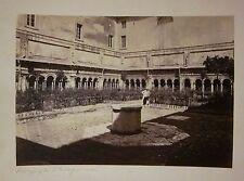 fine '800 ROMA Abbazia di San Paolo fuori le mura foto original albumina 17x25cm
