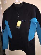 GoldFin Men's Wetsuit Top Jacket, Neoprene Jacket Long Sleeve Front Zip 2XL