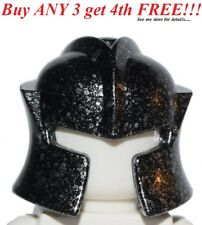☀NEW Lego Minifigure MINIFIG HELMET Speckle BLACK Cheek protector Castle warrior