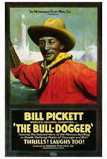 THE BULL DOGGER Movie POSTER 27x40 Bill Pickett Bennie Turpin Anita Bush