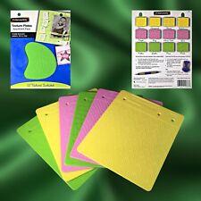 Fiskars Texture Plates ~ 12 Assortment Pack Texture Paper, Foil & Clay ~ Nib
