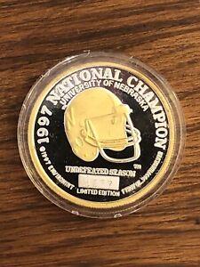 Rare 1997 Nebraska University Cornhusker National Champion Football Silver Coin