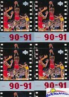 (4) 1998/99 Upper Deck #47 Michael Jordan Timelines Insert Lot Chicago Bulls HOF