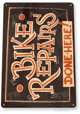TIN SIGN Bike Repairs Trail Wall Art Décor Garage Shop Bicycle Store Cave A822