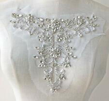 Rhinestone Neckline Wedding Applique Diamante Evening Dancing Bridal Dress Trim