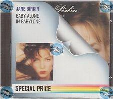 "JANE BIRKIN CD BABY ALONE IN BABYLONE "" special price serie "" WEST GERMANY neuf"
