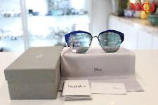 'New never used' Dior  I220J Black Shiny Blue / Rose Gold Mirrored Sunglasses