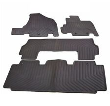 Set of Front & Rear Black Rubber All Season Floor Mats for Honda Odyssey 11-17