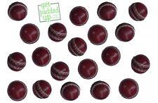 Mini miniature cuir Balles de cricket: Lot de 3: pour des trophées, des présentations