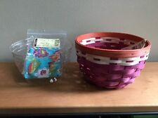Longaberger Summer Lovin' Small Ware Basket w/ Liner & Protector