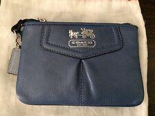 44381 Coach Leather Madison Wristlet purse wallet Blue NWOT