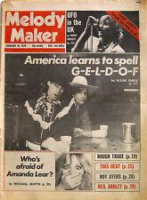 MELODY MAKER feb 10 1979 Bob Geldof Amanda Lear UFO This Heat Roy Ayers