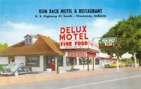 Postcard Kum Back Motel and Restaurant in Vincennes, Indiana~129074