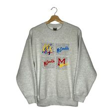 Vintage 90s Mcdonalds Logo Crewneck Sweatshirt Pullover Large Fruit of the Loom