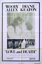 LOVE AND DEATH 1975 Woody Allen, Diane Keaton US 1-SHEET POSTER