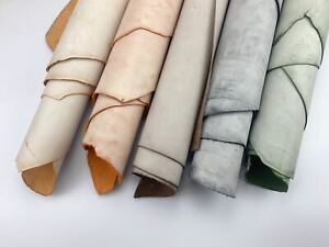 2mm thick dyed veg tan leather craft - select waxed colour & irregular shape