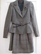 Ladies 'Atmosphere' Brooch Fronted Grey Tweed Jacket & Tartan Dress Both size 8.