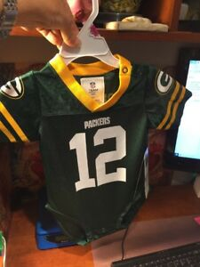 Aaron Rodgers #12 Green Bay Packers NFL One Piece Jersey Baby Kid 12 Month