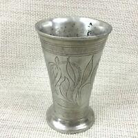 Vintage Peltro Vaso Pot Inciso a Mano Scandinavo Skvoll Brug Hydro Norvegia