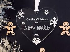 First Christmas In Our New Home Tree Decoration Christmas Gift
