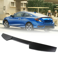 For Honda Civic 10th Coupe V Look Rear Boot Roof Spoiler Wing 16-18 Unpaint DX