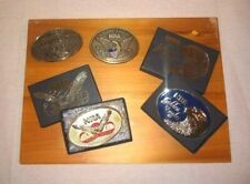 Four New NRA Collectable Belt Buckles