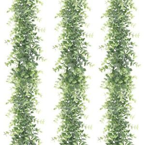 3 Pack Artificial Eucalyptus Garland Faux Vines Greenery Garland Wedding